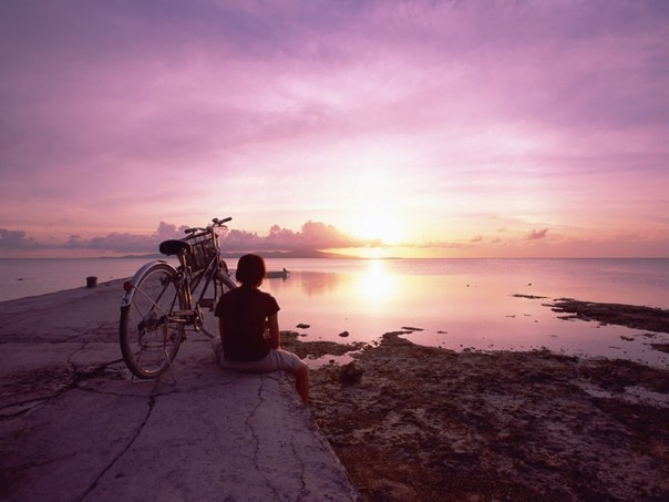 bike sunset