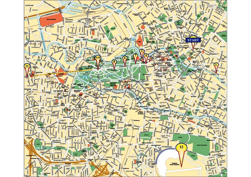 Map of biketrip in Berlin