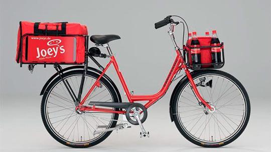 Доставка на багажнику велосипеда