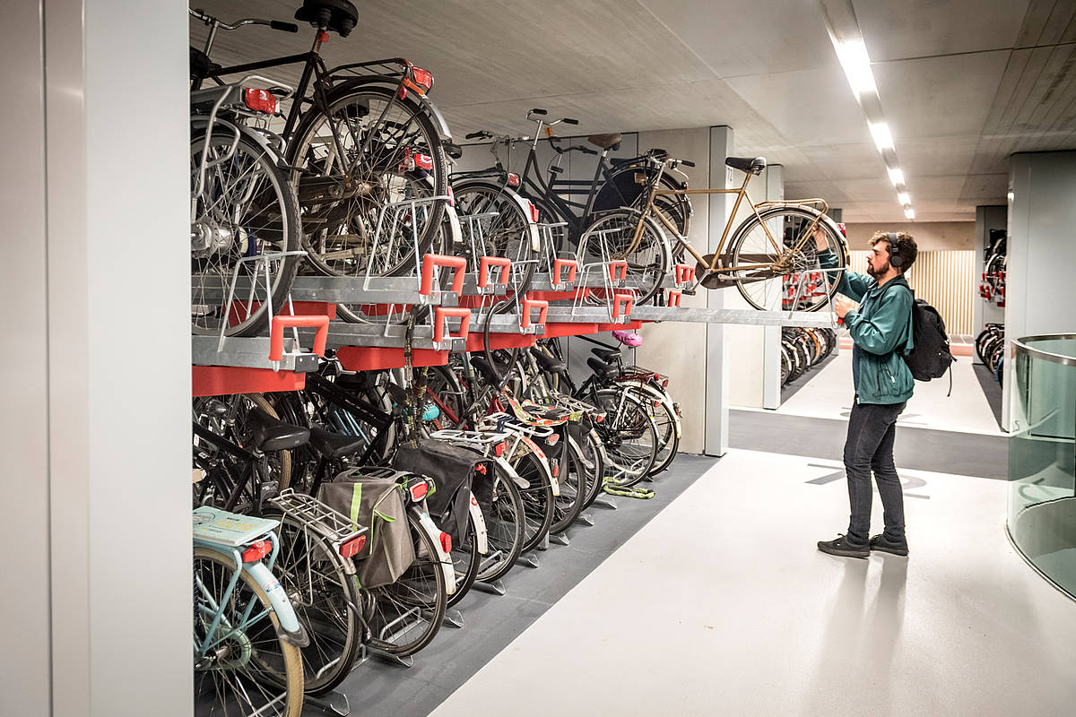 Велосипедная станция в Утрехте